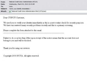 NCUA Email scam