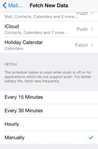 iPhone Fetch New Data