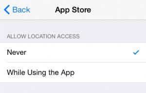 iPhone Location Update