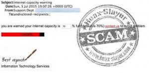 Internet Capacity Scam