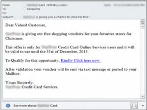 Free Voucher Scam