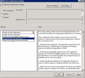 Group Policy Setting