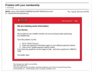 Netflix update info